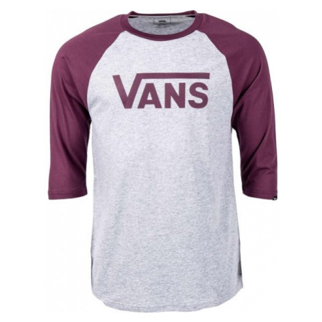 Vans MN VANS CLASSIC RAGLAN ATHLETIC grey - Men's 3/4 sleeve T-shirt
