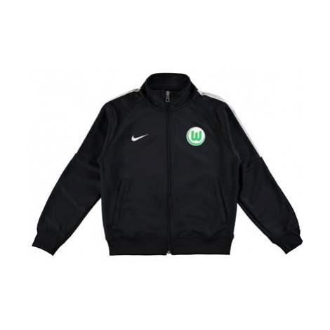 VfL Wolfsburg Training Presentation Jacket - Black - Kids