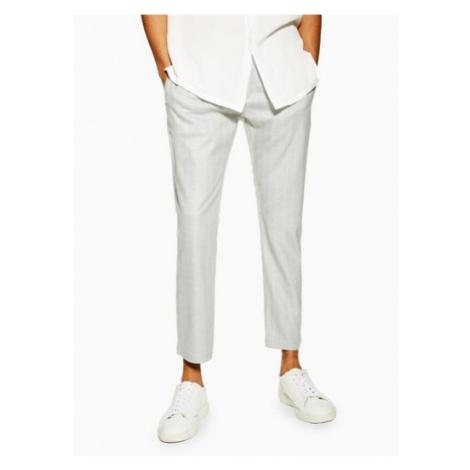 Mens Grey Stripe Trousers, Grey Topman
