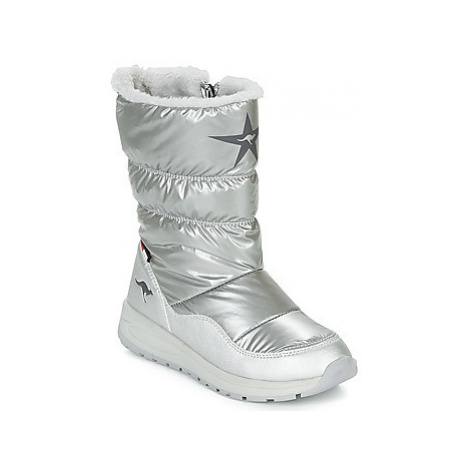 Kangaroos K CONFI RTX girls's Children's Snow boots in Silver