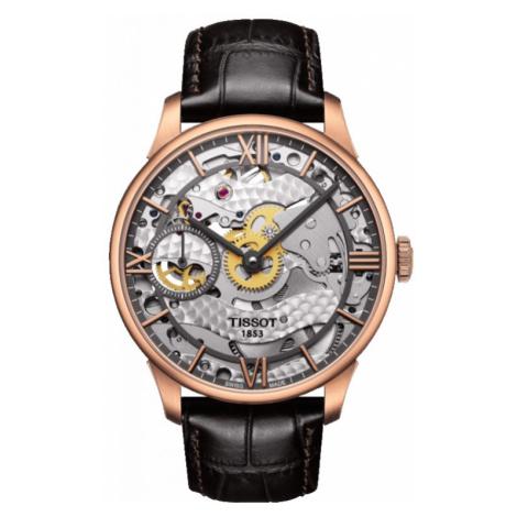 Mens Tissot Chemin Des Tourelles Squelette Mechanical Watch T0994053641800