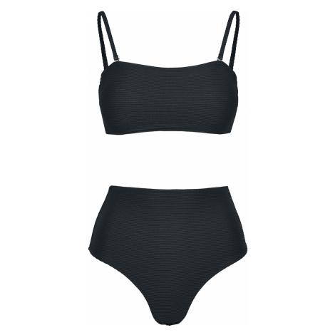 Urban Classics - Ladies High Waist Bandeau Bikini - Bikini - black