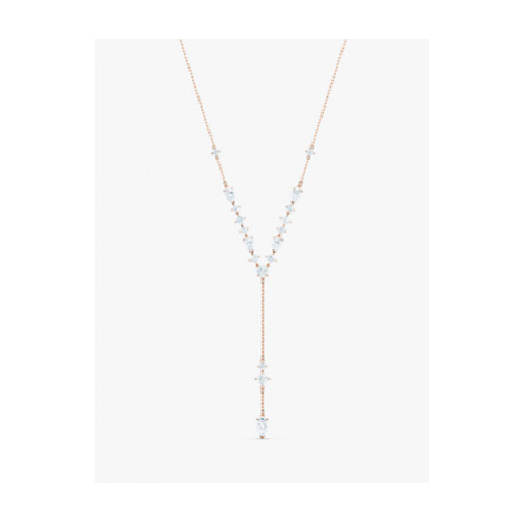 Swarovski Crystal Long Y Chain Necklace, Rose Gold