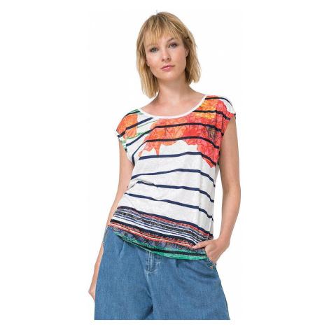 T-Shirt Desigual 73T2WJ2/Macarena - 1000/Blanco
