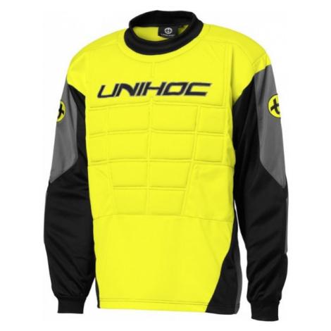 Unihoc GOALIE SWEATER BLOCKER yellow - Goalie jersey