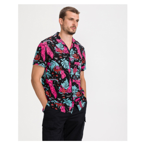 Tommy Jeans Miami Tropical Shirt Black Pink Tommy Hilfiger