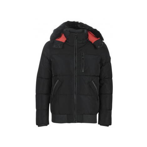 Guess SHORT PUFFA men's Parka in Black