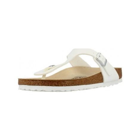 Birkenstock GIZEH BF women's Flip flops / Sandals (Shoes) in White
