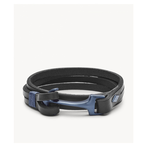 Fossil Men's Vintage Casual Anchor Bracelet - Black Blue