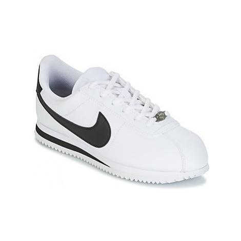 Nike CORTEZ BASIC SL GRADE SCHOOL girls's Children's Shoes (Trainers) in White