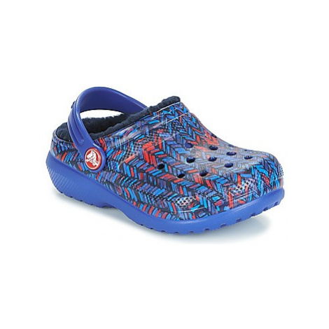 Crocs CLASSIC LINED GRAPHIC CLOG K girls's Children's Clogs (Shoes) in Blue