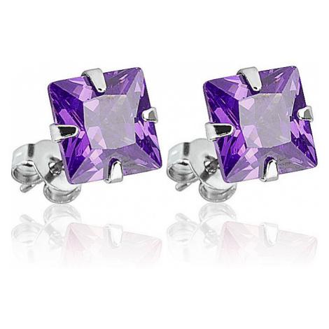 earrings Body Art SESQ - 5TZ/Princess Cut Square/Tanzanite
