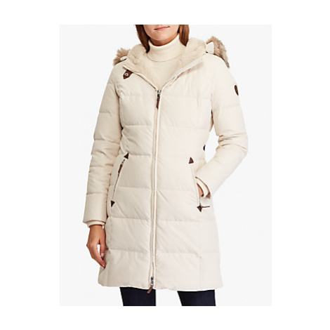Lauren Ralph Lauren Hooded Down Jacket, Moda Cream