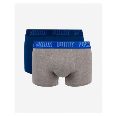Puma Boxers 2 Piece Blue Grey