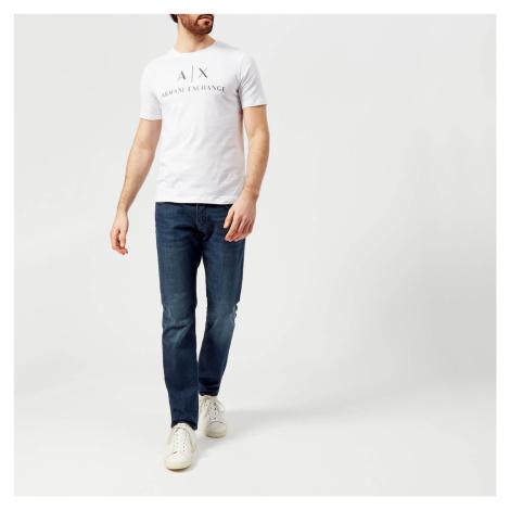 Armani Exchange Men's Script Logo T-Shirt - White