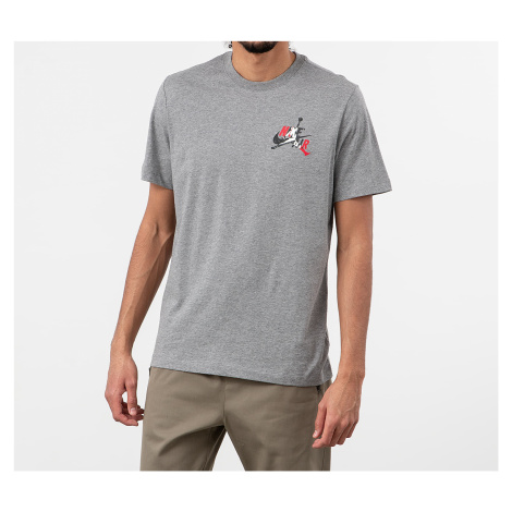 Jordan Jumpman Classics Graphic Tee Carbon Heather/ White