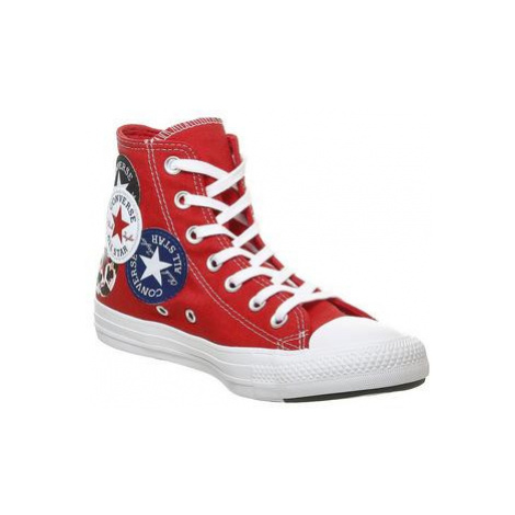 Converse All Star Hi UNIVERISTY RED BLACK RUSH BLUE MULTI LOGO