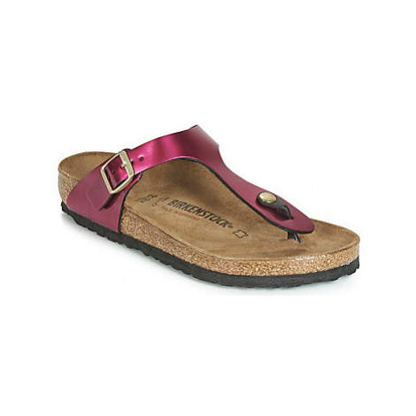 Birkenstock GIZEH women's Flip flops / Sandals (Shoes) in Pink