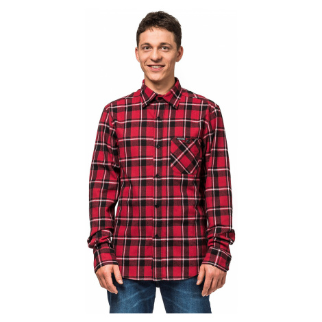 shirt Horsefeathers Rashid LS - Cardinal Red - men´s