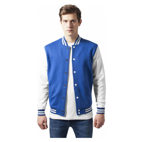 Urban Classics 2-tone College Sweatjacket roy/wht