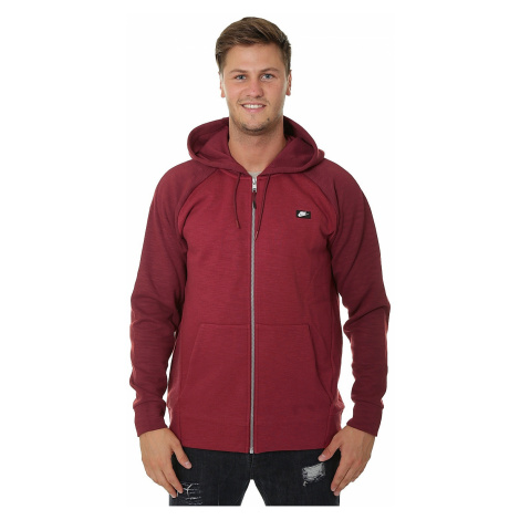 sweatshirt Nike Sportswear Optic Hoodie Zip - 677/Team Red/Heather/Team Red - men´s