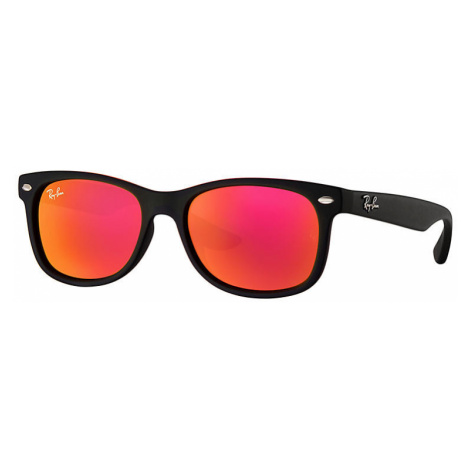 Ray-Ban New wayfarer junior Unisex Sunglasses Lenses: Red, Frame: Black - RJ9052S 100S6Q 48-16