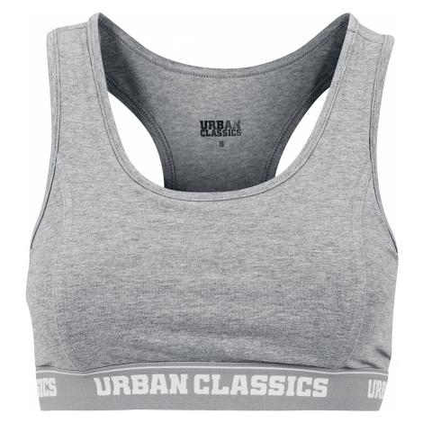 Urban Classics - Ladies Logo Bra - Bustier - mottled grey