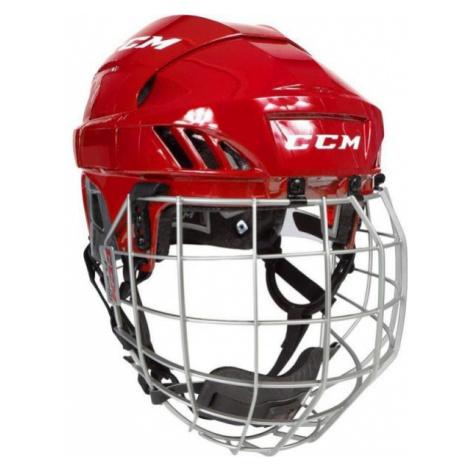 CCM FL60C SR COMBO red - Hockey helmet