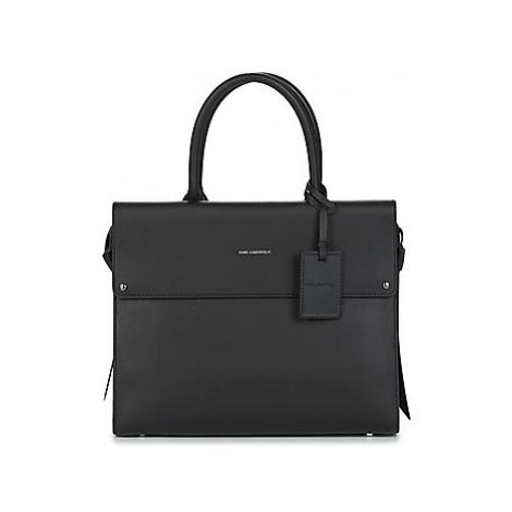 Karl Lagerfeld K/IKON TOP HANDLE women's Handbags in Black