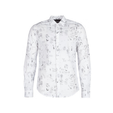 Desigual EHUD men's Long sleeved Shirt in White