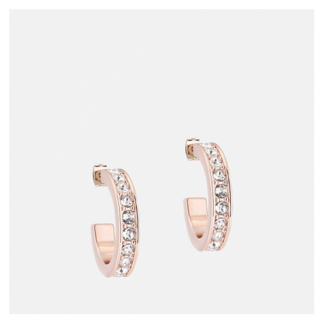 Ted Baker Women's Seanna: Small Crystal Hoop Earring - Rose Gold/Crystal