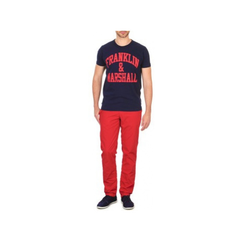 Franklin Marshall GLADSTONE men's Trousers in Red Franklin & Marshall