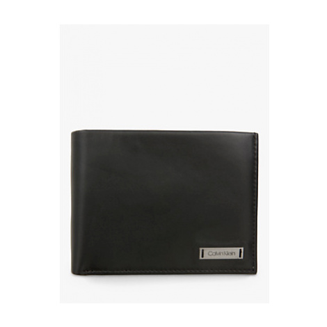 Calvin Klein Leather Coin Holder Wallet, Black