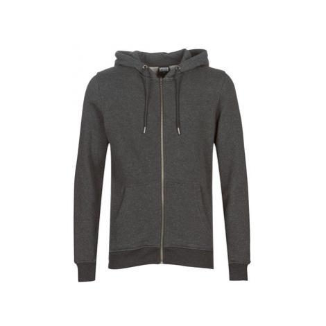 Urban Classics BASIC ZIP HOODY men's Sweatshirt in Grey
