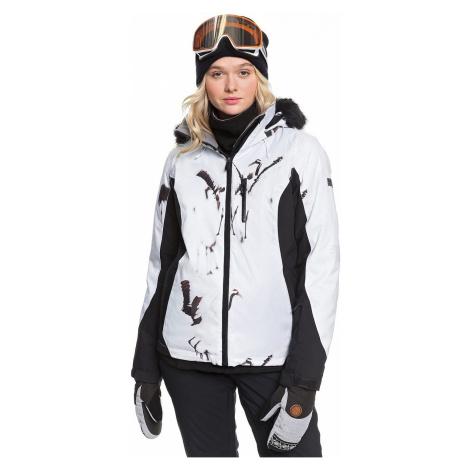 jacket Roxy Jet Ski Premium - KVJ2/True Black White Birds - women´s