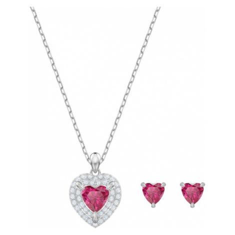 Swarovski Red Crystal Heart Jewellery Set | Valentine's Gifts
