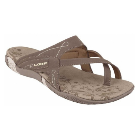 Loap LUXE brown - Women's summer shoes