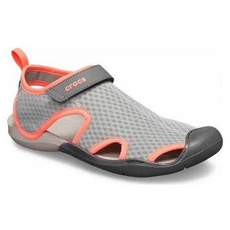 shoes Crocs Swiftwater Mesh Sandal - Light Gray/Pearl White - women´s
