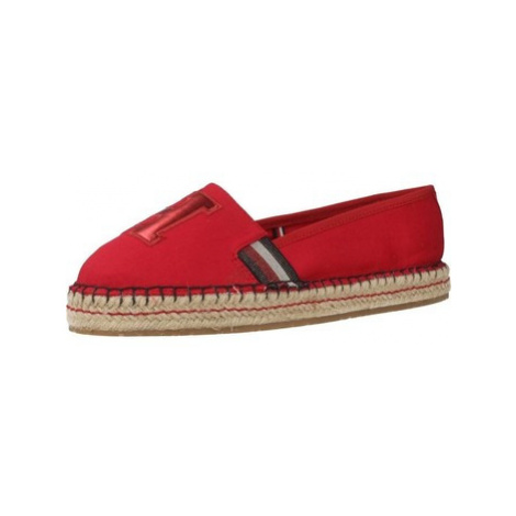 Tommy Hilfiger FW0FW03846 women's Espadrilles / Casual Shoes in Red