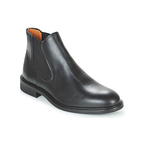Selected BAXTER CHELSEA LEATHER BOOT men's Mid Boots in Black