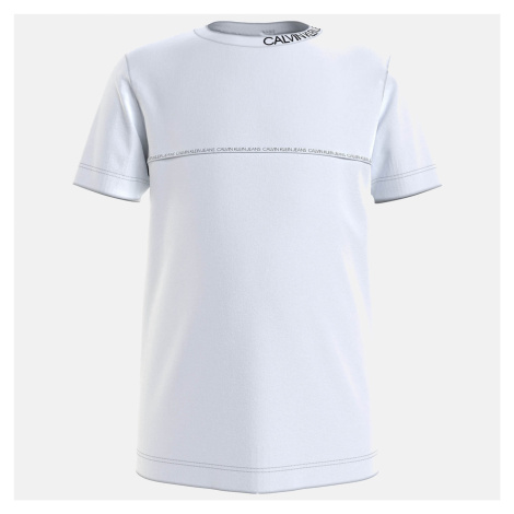 Calvin Klein Jeans Boys' Logo Piping Fitted T-Shirt - Bright White