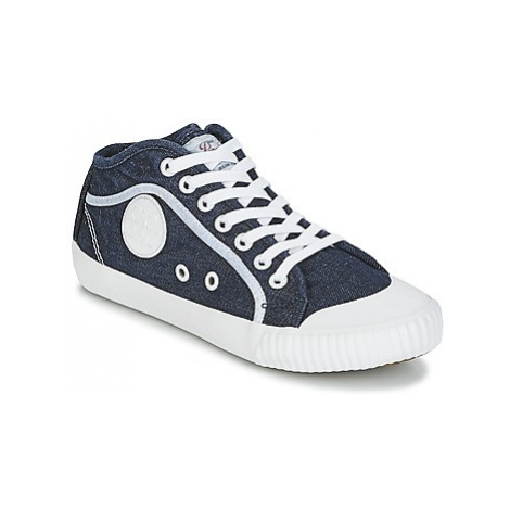 Pepe jeans INDUSTRY PLAIN women's Shoes (High-top Trainers) in Blue