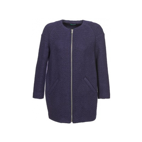 Benetton FISMIS women's Coat in Blue United Colors of Benetton