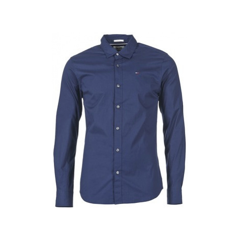 Tommy Jeans KANTERMI men's Long sleeved Shirt in Blue Tommy Hilfiger