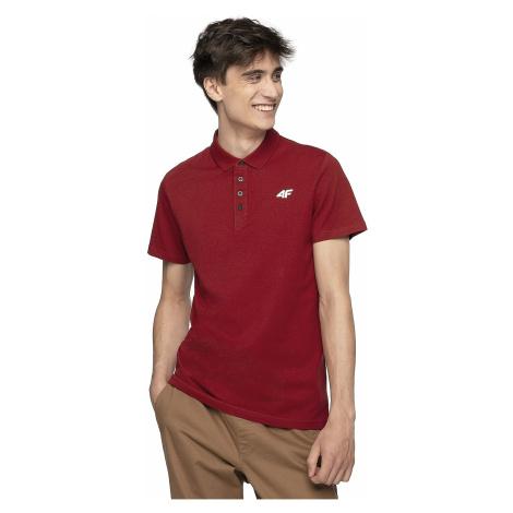 T-Shirt 4F H4Z19-TSM010 Polo - 60S/Burgundy - men´s