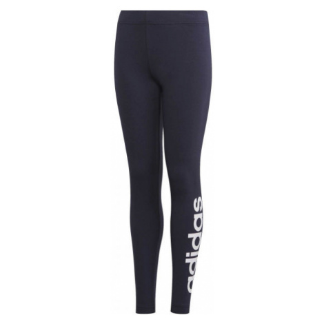 adidas YG E LIN TGHT dark blue - Girls' leggings