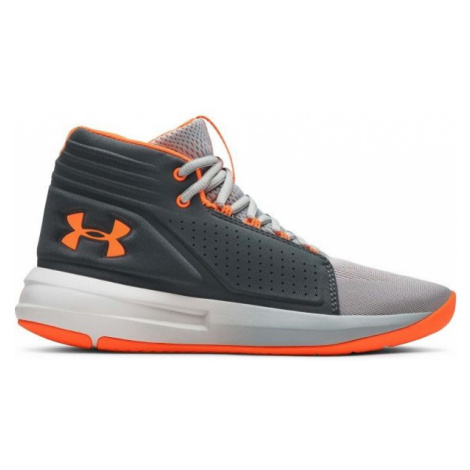 Under Armour BGS TORCH MID orange - Boys' basketball shoes
