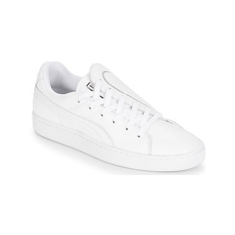Puma WN BASKET CRUSH EMBOSS.WH women's Shoes (Trainers) in White