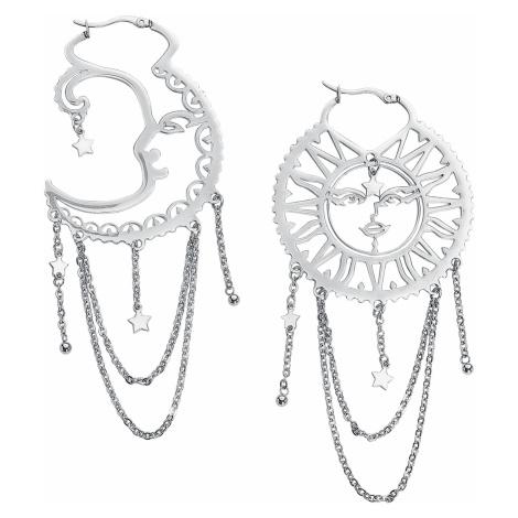 Wildcat - Oldschool Sun Moon Hoops - Earring set - silver-coloured