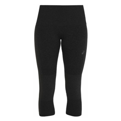 Asics COOLING SEAMLESS CAPRI black - Women's running 3/4 length tights
